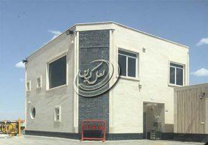 نمای ساختمان با سنگ تراورتن عباس آباد